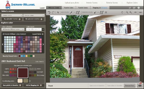 Virtual House Painter - Trying On Paint Colors - MiscFinds4u