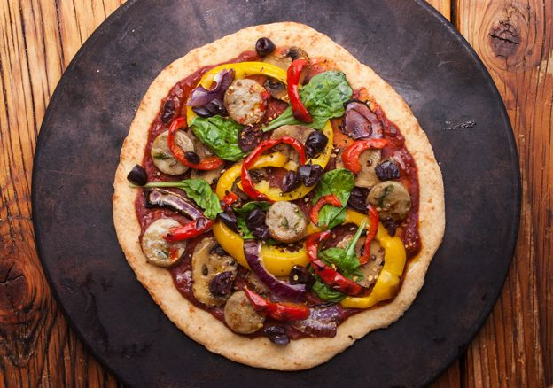 Phase 3 FMD Pizza! Pile this great crust with your favorite vegan/vegetarian toppings. Get the recipe on our blog.
