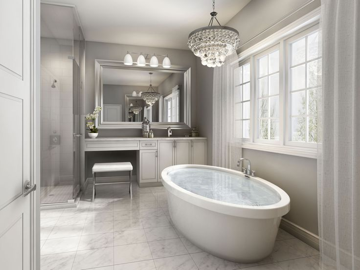 Stunning ensuite with oval soaker tub | Enclaves of Upper Canada