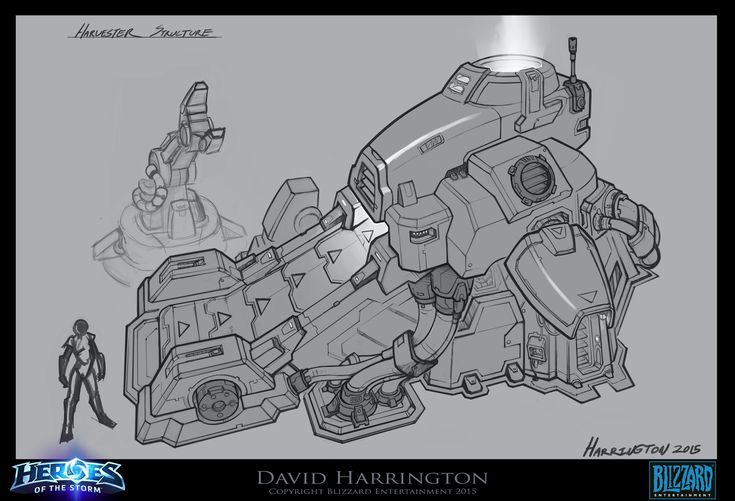 ArtStation - Warhead Junction - Harvester Structure Concept Art - Heroes of the Storm, David Harrington