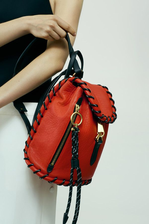 The Acne Studios Rope jungle red backpack #AcneStudiosBags