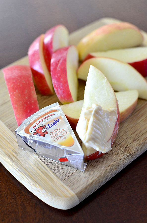Apple Slices & Laughing Cow Light Queso Fresco & Chipotle Cheese Wedges