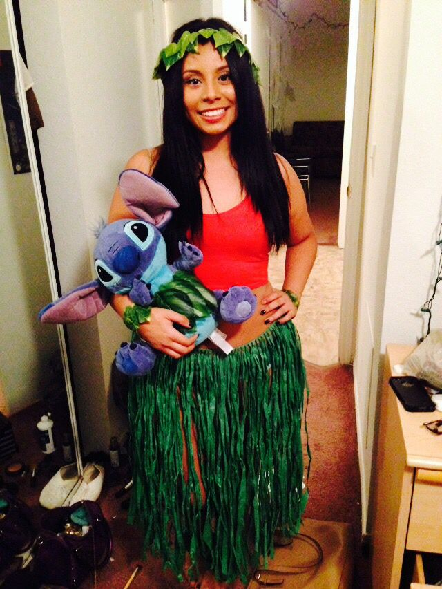 halloween costume homemadestore bought lilo and stitch