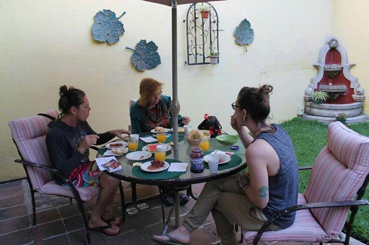 Las Lagos Hostel breakfast