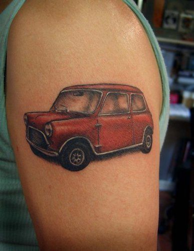 Little red car. Cute.Minis Tattoo, Little Red, Minis Dog Qu, Search, Bing Image, Mini Tattoos, Red Cars