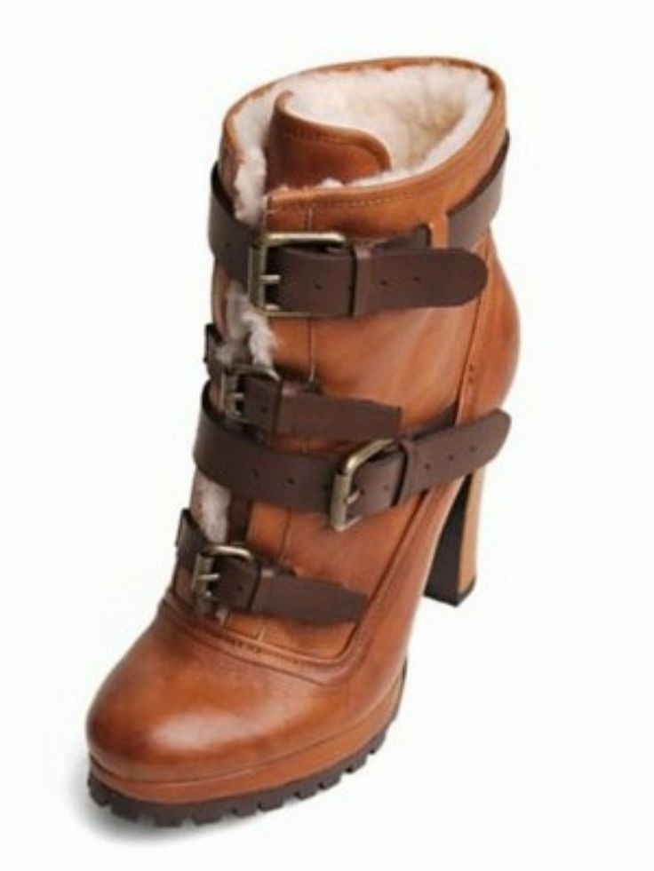 Josh Lace-Up Lug Sole High Heel Boots — The Hip Chick