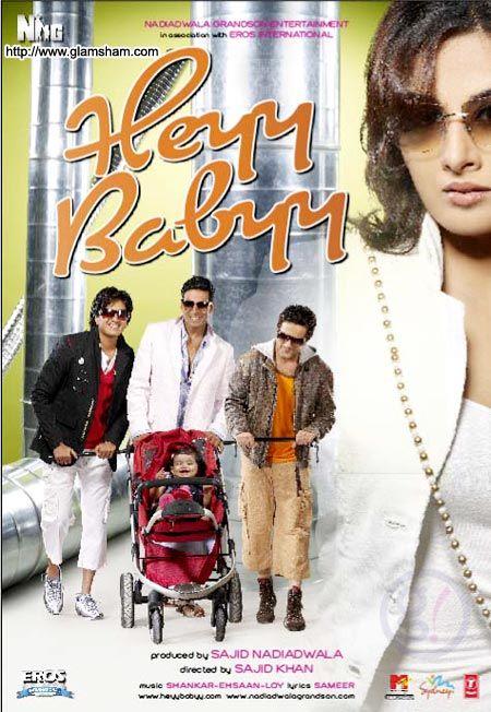 Heyy Babyy - DVD Buy Online Heyy Babyy - DVD. 100% Original Company Genuine Item. Buy new release Hindi Movie dvd,Buy original Movies dvd, Audio Cds, Devotional Cds, Blu ray disc starcast : Akshay Kumar, Vidya Balan, Fardeen Khan, Riteish Deshmukh, Boman Irani director : Sajid Khan producer : Sajid Nadiadwala music_director : Shankar Ehsaan Loy genre : Comedy format : DVD label : Eros International language : Hindi year : 2007 Discs : 1