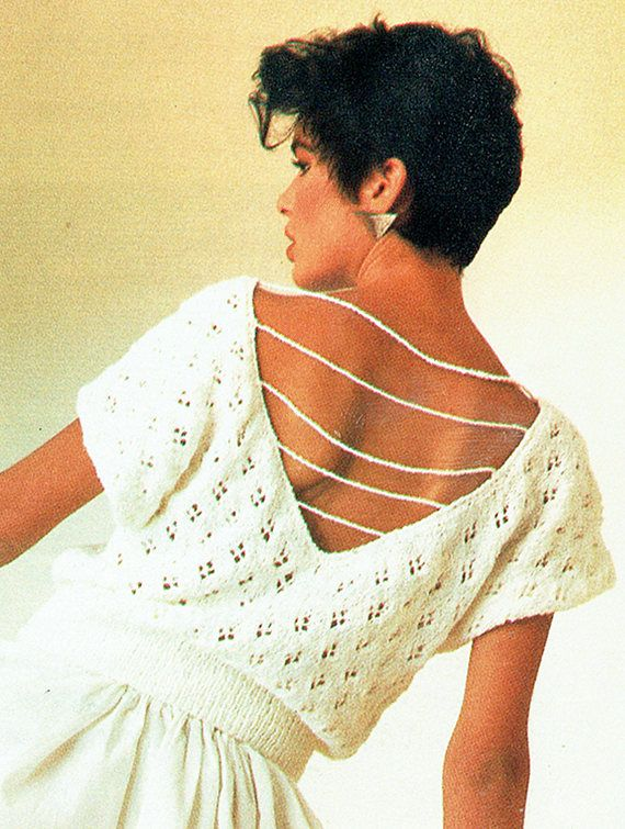 PDF Womens Ladies Knitting Pattern Summer Sexy Beach Backless