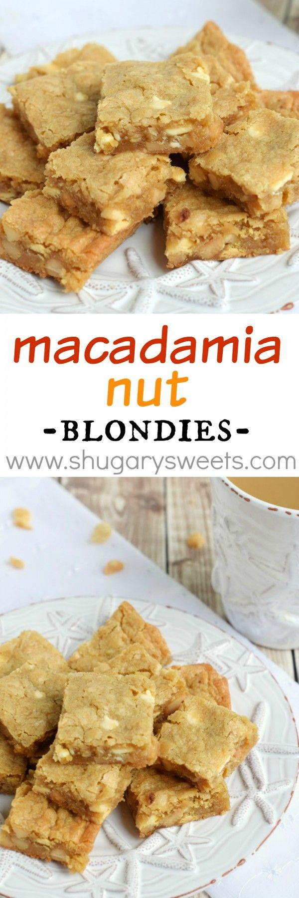 Macadamia Nut Blondies: delicious chewy blondies with a nutty crunch ...