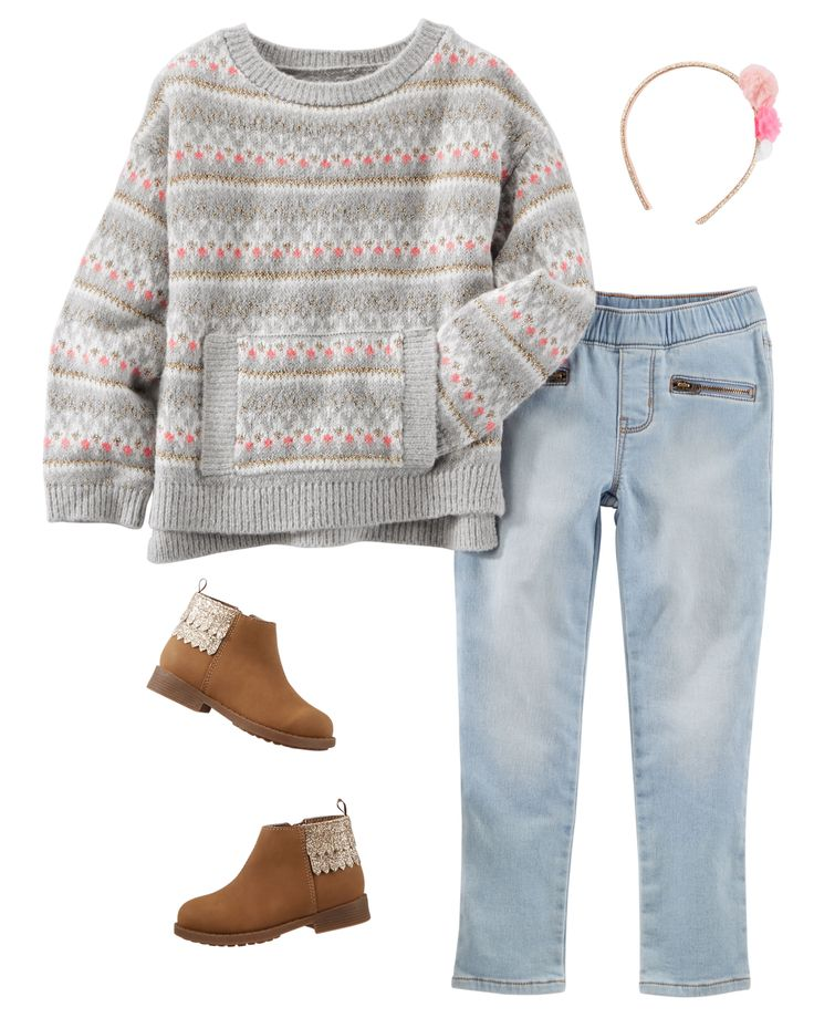 Der want the jeans but maybe a different sweater.