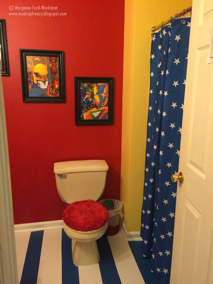 Madcap Frenzyu0027s Superhero Bathroom Update And Makeover