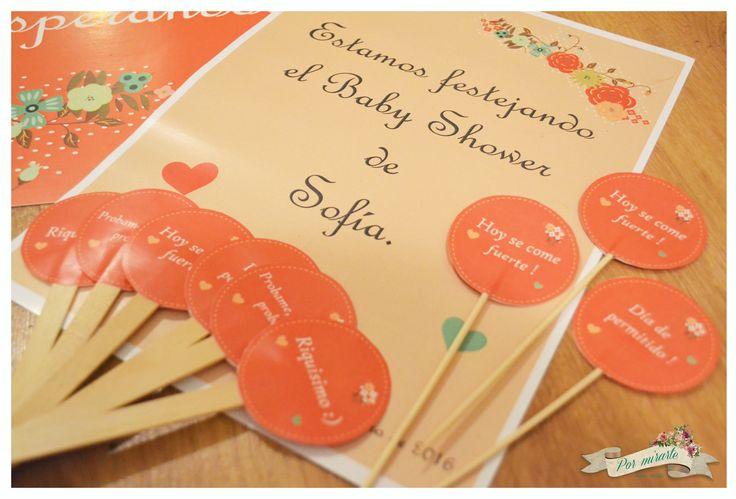 Detalles para el baby shower de sofi toppers y cartel de - Detalles de bienvenida ...