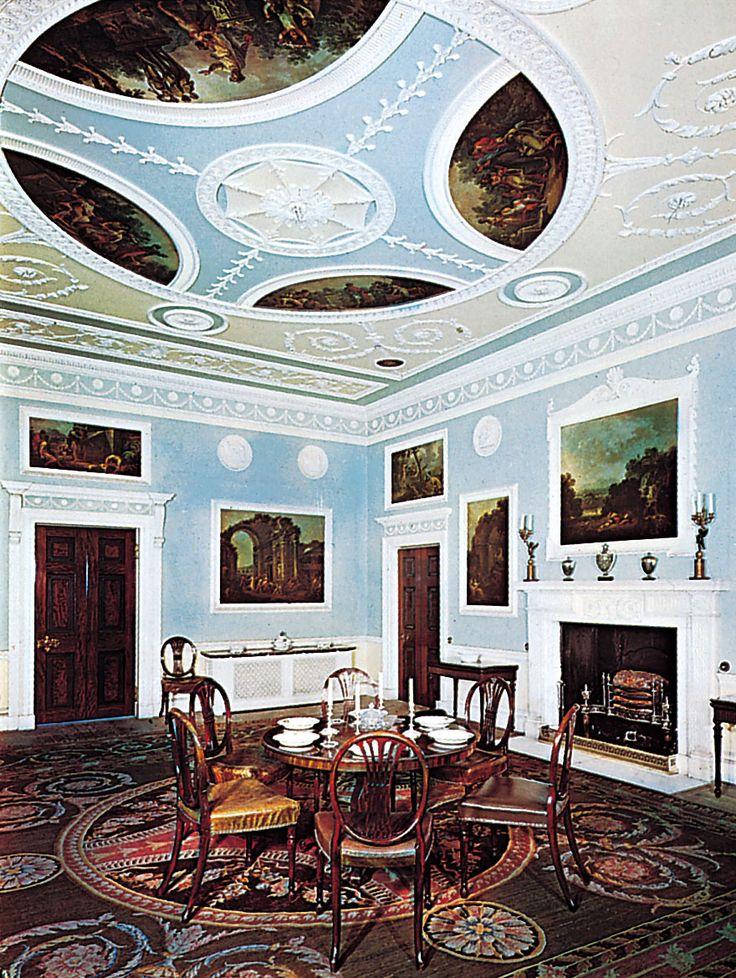 Dining Room, Saltram House, Devon, Robert Adam, Ca. Part 76