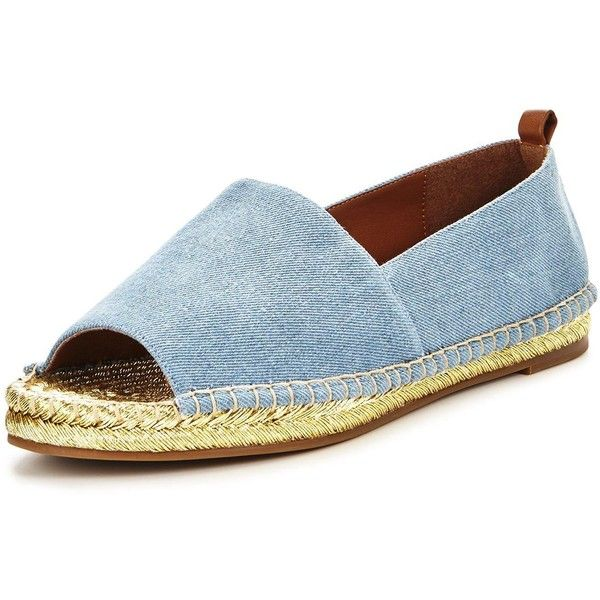 Kg Becca Peep Toe Flat Sandal (3.700 RUB) ❤ liked on Polyvore featuring shoes, sandals, blue espadrilles, peep toe sandals, peep toe flat sandals, flat espadrilles and flat sandals