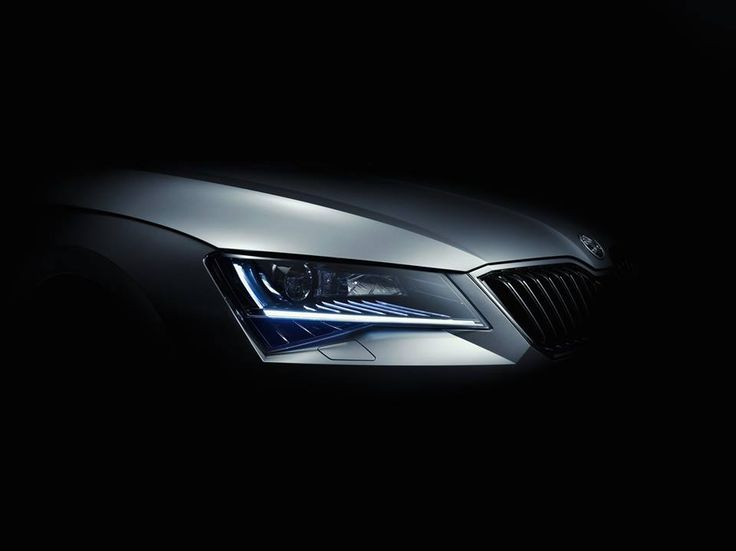 """The ŠKODA Superb technology series:  Visibility plays a crucial role in road traffic safety.  The Smart Light Assist """"masks"""" the high beam so that the driver can drive without dazzling oncoming vehicles. Simple. Clever.  Photo credit to ŠKODA"""