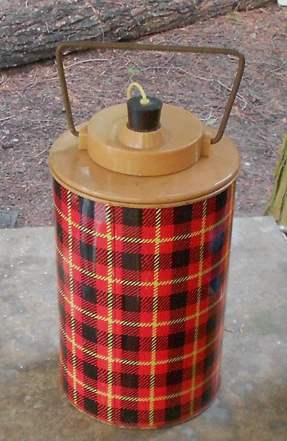 THERMOS COOLER JUG Vintage Skotch Jug plaid by JunqueInTheTrunque, $38.00