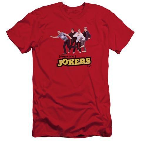 truTV Impractical Jokers Cast Adult Red T-Shirt