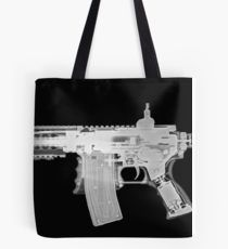 Toy imitation m-16 assault rifle under x-ray  Tote Bag