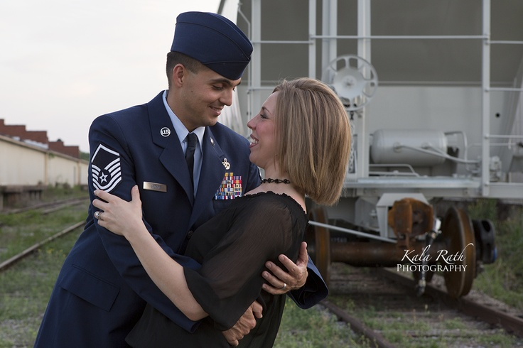 Military family photo session before deployment