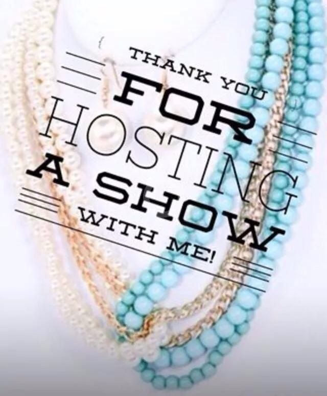 Thank You For Hosting A Jewelry Show –