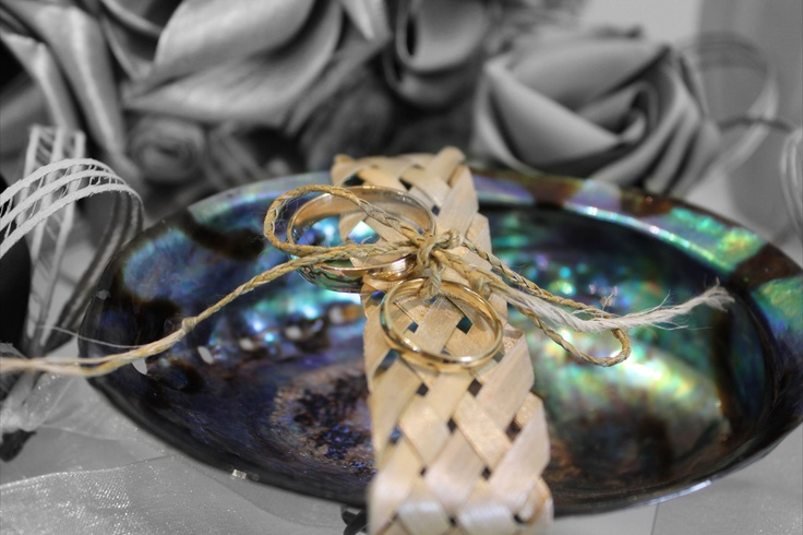 Paua ring pillow in pearl white.  www.flaxation.co.nz