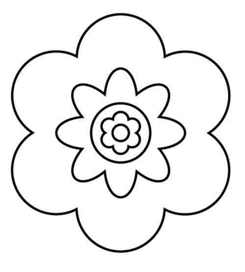 Blumen Große Blüte zum Ausmalen   Malvorlagen blumen ...
