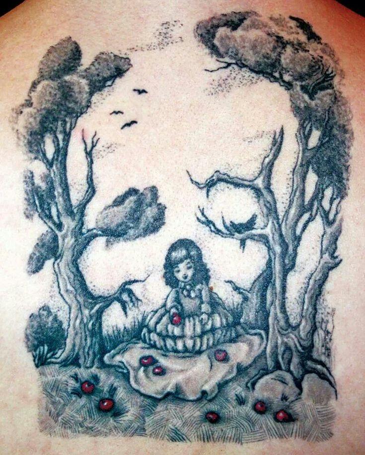 Forms of Skulls ~ Tattoo Design #dark #girl #trees