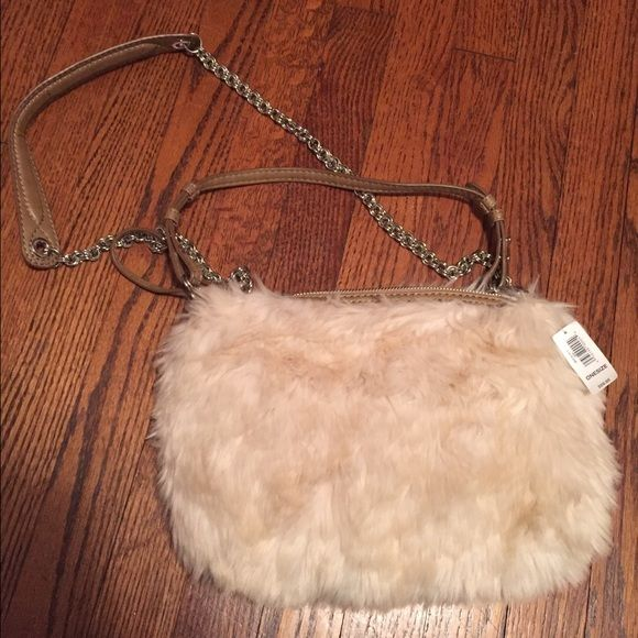 GAP Purse Gap purse. Brand New. Never used, Soft off white fur. Perfect condition with tags. GAP Bags Mini Bags