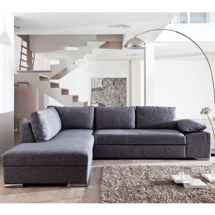 Canapé - Canapé d'angle à gauche convertible Tatoo - Gris - La Maison de Valérie → 910 €
