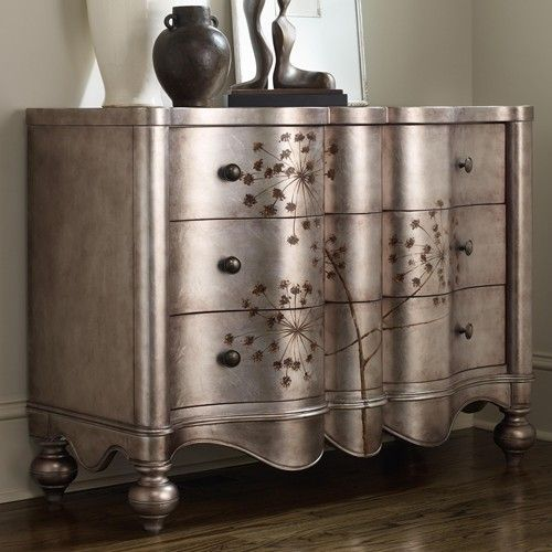 Metallic Paint Adds Elegance To This Chest   Give New Life To Old Furniture  With Paint