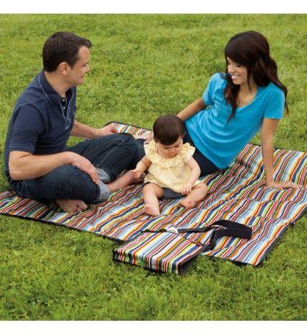 Koc piknikowy z torbą Metro Stripe Skip Hop