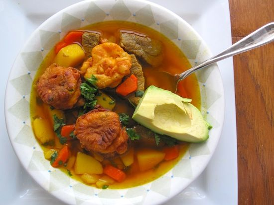 Sopa de Torrejas (Colombian Beef and Fritters Soup)
