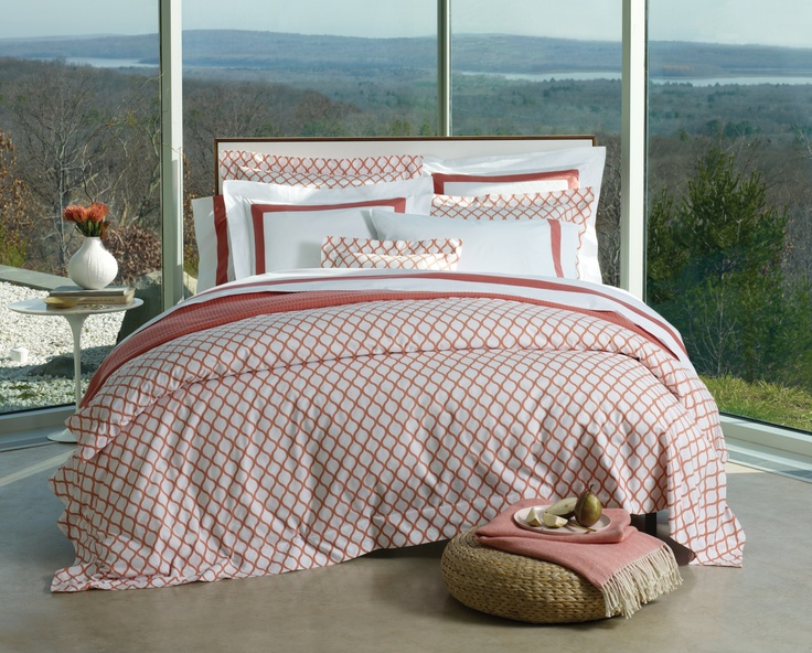 #Andover Egyptian cotton Italian-woven print from #SFERRA. #luxurylinens