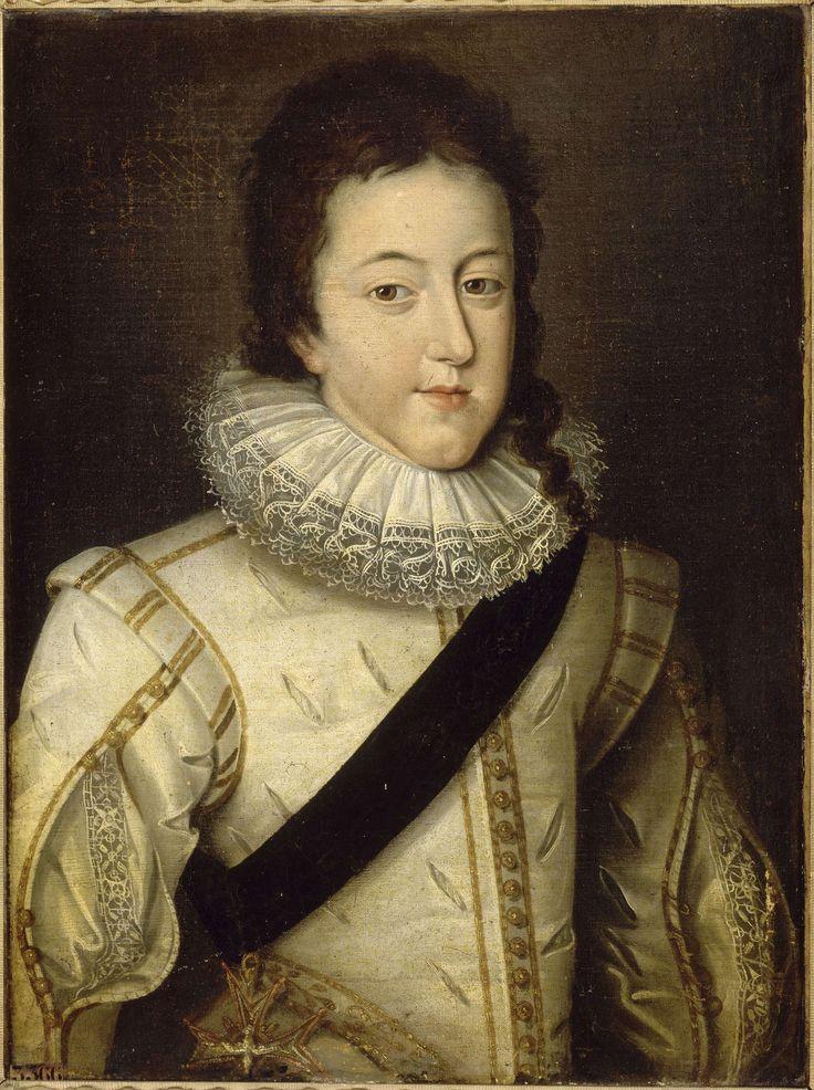 Louis XIII, roi de France et de Navarre (1601-1643) au moment de son mariage en 1616, d'après Frans Pourbus, le Jeune (1569-1622), Versailles, châteaux de Versailles et de Trianon © RMN (Château de Versailles) / Franck Raux