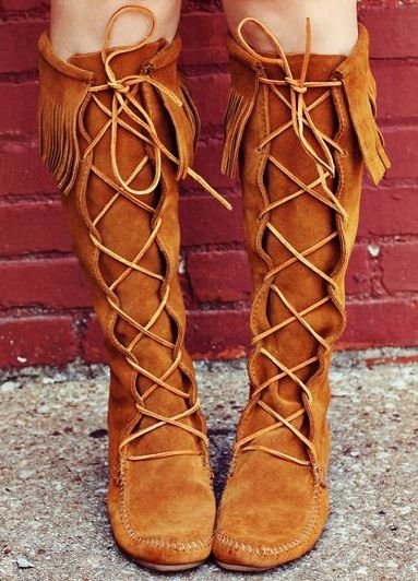Boho lace up boots. My dad actually had a men's pair of these boots and I wish we kept them for me :)