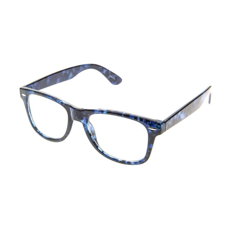Blue Marbled Geek Glasses - Claire's