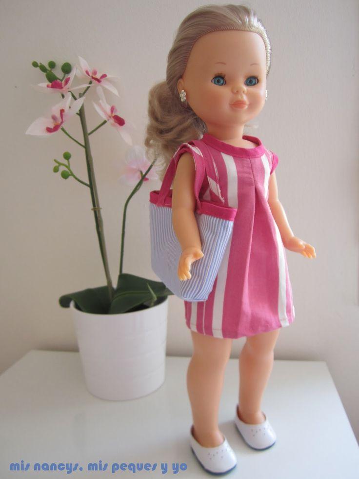 mis nancys, mis peques y yo, tutorial bolsa playera Nancy, Nancy con su bolsa reversible