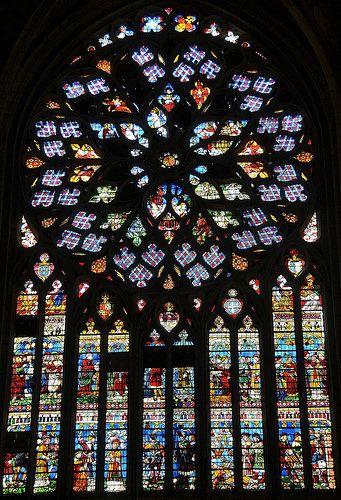 Verri re du transept sud la grande rose du jugement for Plan de sens dans l yonne