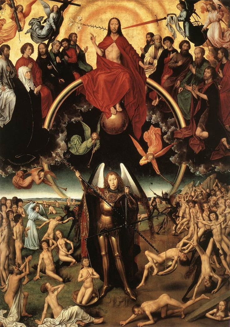"Hans Memling: ""The Last Judgment"", central detail of the triptych (1467-71)"