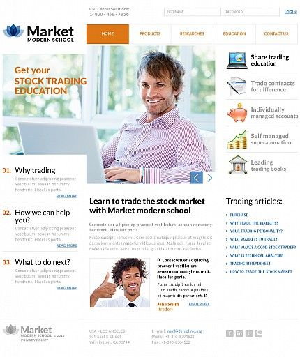 Stock Market Flash CMS Templates by Glenn