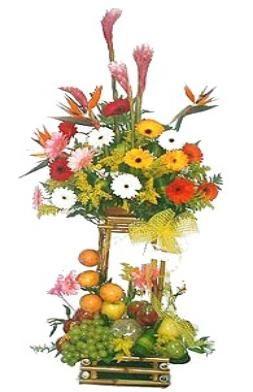 Flores tropicales y frutas, delicioso!
