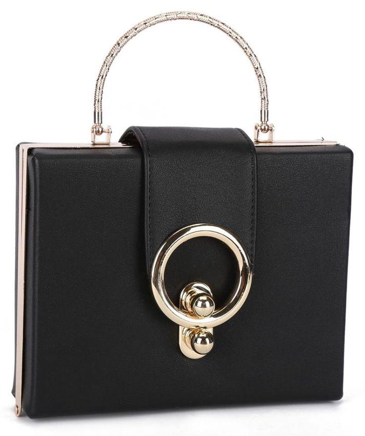 $36.00 - Box Clutch with Gold Hardware #handbag #fashion #summer #beauty