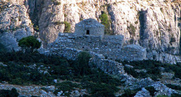 The 9th century church of Agia Kyriaki in the Kalloni area.