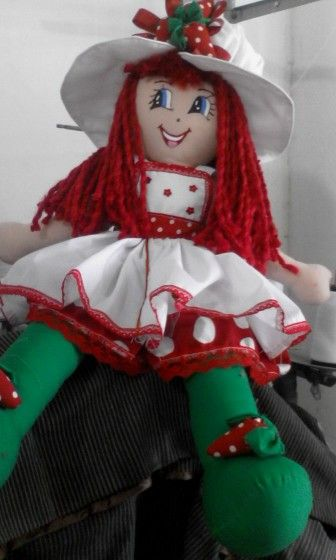 Muñecas de trapo fresita