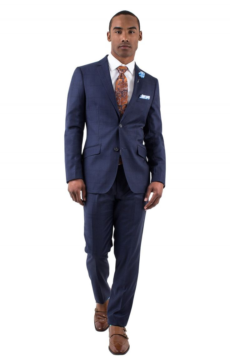CARNABY NAVY WINDOW PANE SLIM FIT SUIT