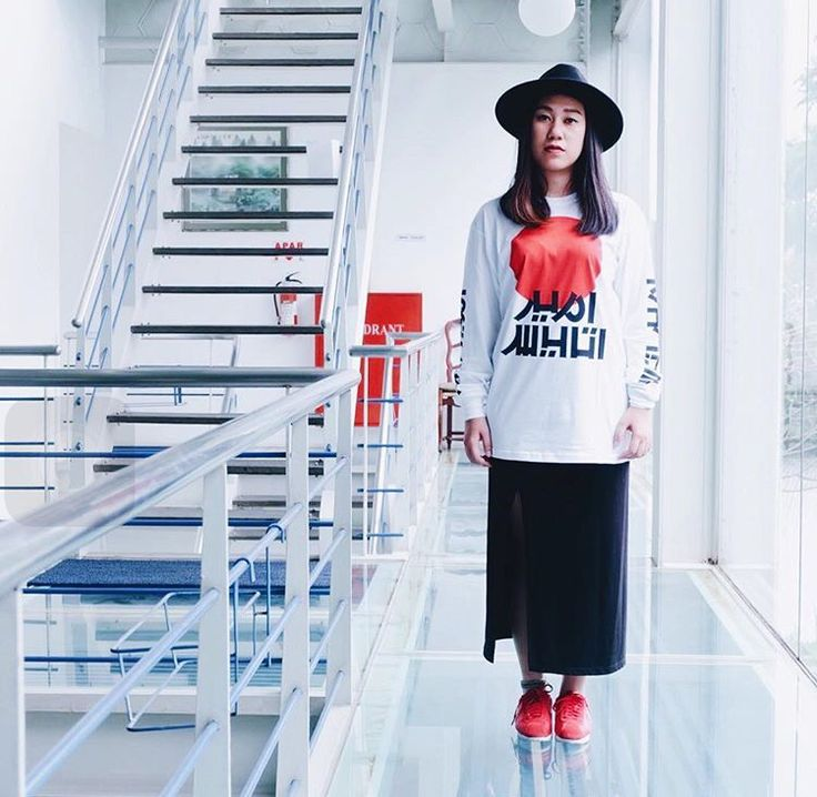Japan style #hipster #fashion #streetstyle #japan #urban #ootd #longsleeve #skirt #sneakers #nike