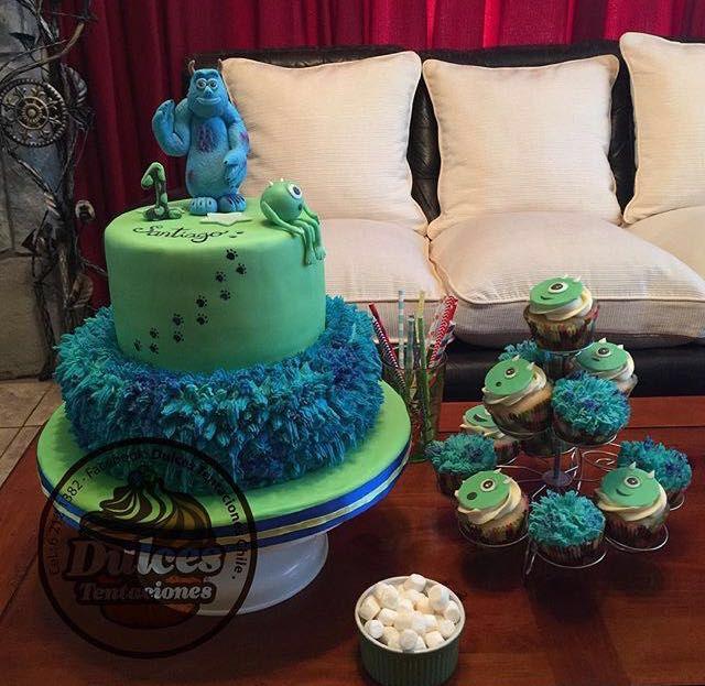 Torta y cupcakes monster inc