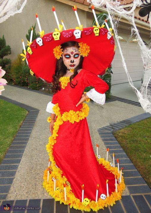 Book of Life La Muerte - Halloween Costume Contest at Costume-Works.com. Awesome Halloween CostumesKid ...  sc 1 st  Pinterest & 211 best Halloween images on Pinterest | Costume ideas Costumes and ...