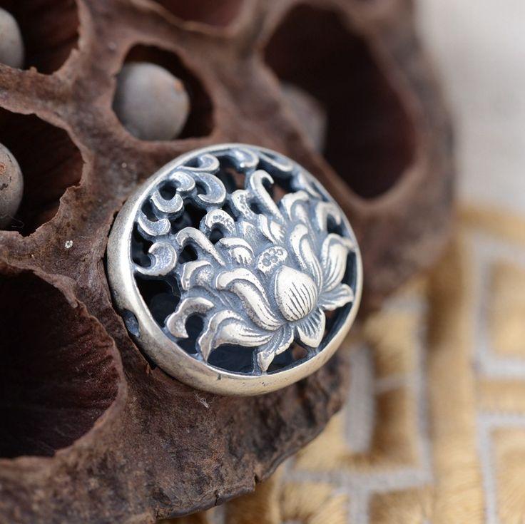Silver Pendant S925 sterling silver wholesale silver style female phoenix wear peony handmade silver pendant series