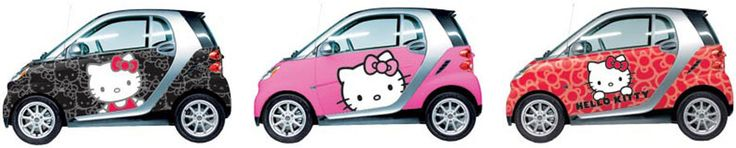 If I could fit into a Smart Car (and I'm imagining I cannot), I would get it dipped in Hello Kitty!